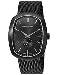 Philip Stein Men's 72B-CRGBK-MSSBP Modern Analog Display Swiss Quartz Black Watch