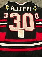 Ed Belfour Autographed Signed Chicago Blackhawks Jersey Jsa Coa