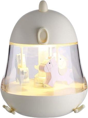 YLSMN Lámpara de escritorio de carga USB colorida luz nocturna ...