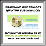 BMV Quantum Subliminal CD Set- 4 SUBLIMINAL CDs - Advanced Psychic Ability / Psychic Development Program (ESP, Clairvoyance, Dreams, Astral Travel & Telepathy - Develop Supernatural Powers - Paranormal / Psychic CD Collection with Brainwave Entrainment Technology & NLP (4 CDs: Psychic Ability, Lucid Dreaming, Astral Projection / Out of Body Experiences, Remote Viewing / Remote Viewer Aid)
