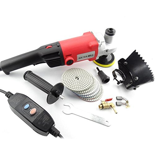 MOPHOTO 4-Inch Variable Speed Random Orbital Polisher Kit, Countertop Wet Sander Grinder w/Diamond Pads for Marble/Stone/Granite, USA Warehouse Shipment by MOPHOTO (Image #3)