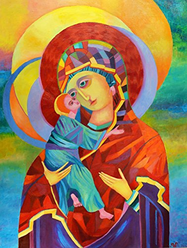 Madonna and Child POSTER Print Vladimir Icon A2 Polish Madonna Picture Christmas Poland Catholic Modern Contemporary Religious Wall Art by SmartPolonia