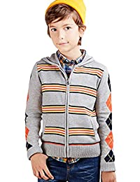 HFSMD Autumn Children Sweater Boys Long Sleeve Zipper Knitted Cardigan