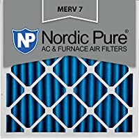 Nordic Pure 20x20x4 (3-5/8 Actual Depth) MERV 7 Pleated AC Furnace Air Filter, Box of 6