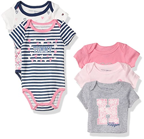 tommy-hilfiger-baby-girls-print-and-solid-bodysuits-pink-gray-3-6-months-pack-of-5