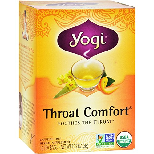 (Yogi Tea Organic - Throat Comfort - Caffeine Free - 16 Tea Bags (Pack of 2))