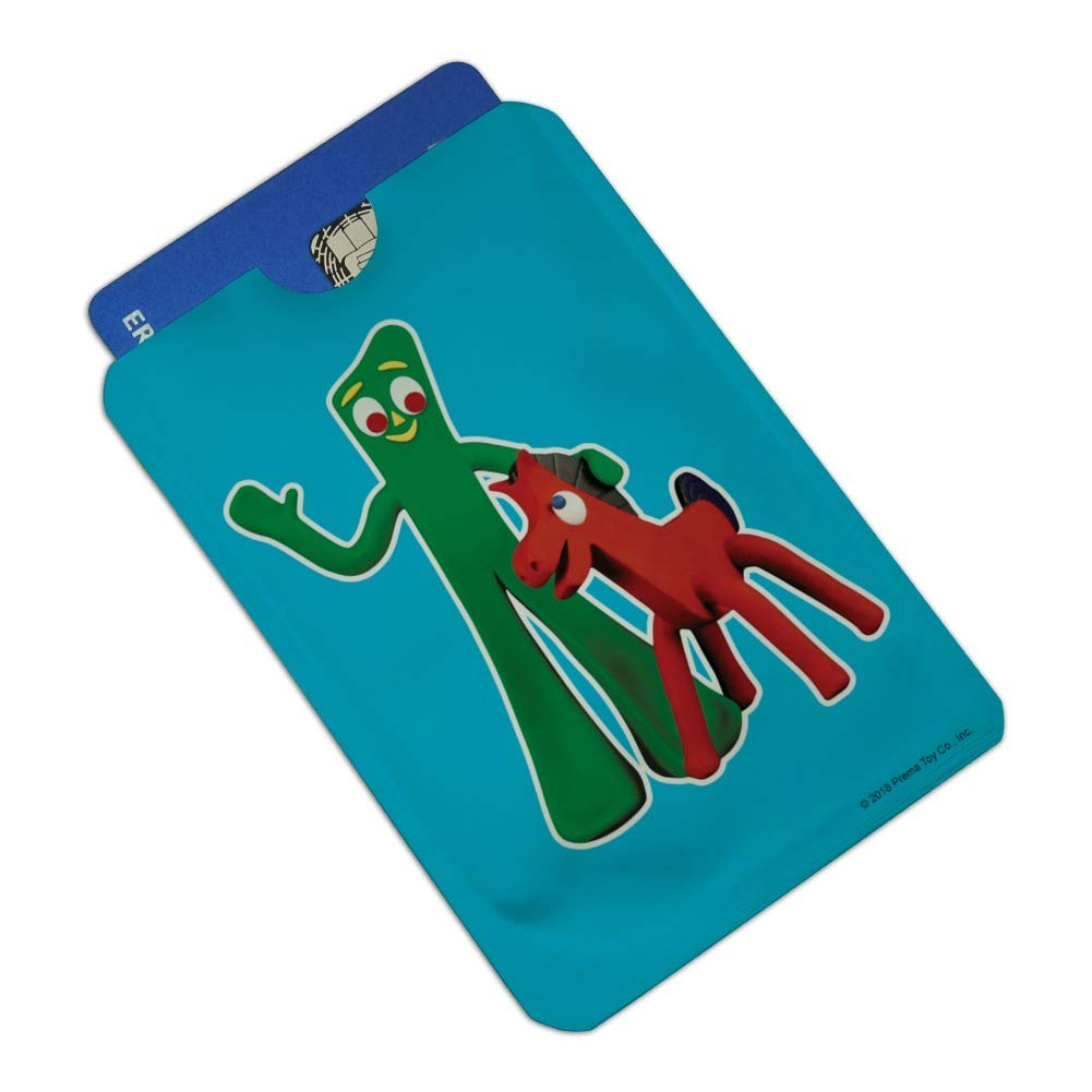 Gumby Pokey Best Friends Clay Art Credit Card RFID Blocker Holder Protector Wallet Purse Sleeves Set of 4