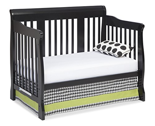 stork craft tuscany 4 in 1 convertible crib black. Black Bedroom Furniture Sets. Home Design Ideas