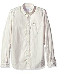 Men's Long Sleeve Regular Fit Button Down Oxford Bengal Stripe