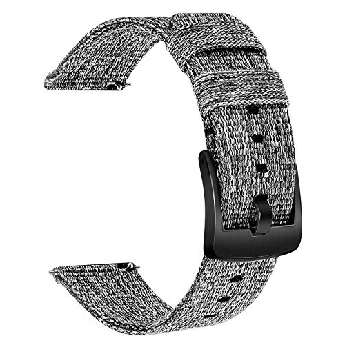 TRUMiRR Compatible with Vivomove HR Bands, Woven Nylon Watchband Quick Release Strap Stainless Steel Buckle Band Wrist Bracelet for Garmin Vivomove HR Smart Watch