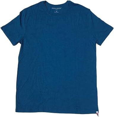 Basel 1 Denim Derek Rose Mens Modal Crew Neck T-Shirt