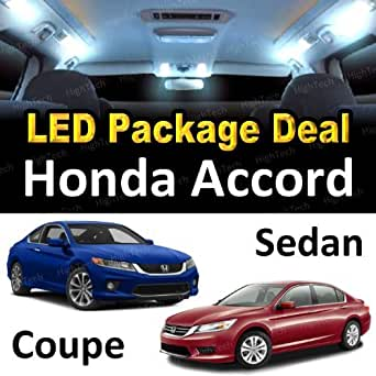Led interior package super bright white light bulbs for 2001 honda accord coupe and sedan 6 for Led lights for car interior amazon