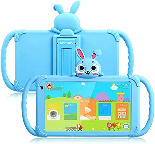 Kids Tablet 7 inch Toddler Tablet Android Tablet for Kids 16GB 4000Mah Parent Control with Pre-Installed Educational APP WiFi Kids Edition Learning Tablet Kid-Proof Case (Light Blue)