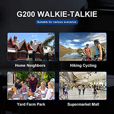 GOCOM Walkie Talkies For Adults Two-Way Radio 2,662 Channels USB Rechargeable Walkie Talkies Long Range, VOX & NOAA Weather Scan, Hands Free, LED Flashlight For Outdoor Hiking Camping Travel Excursion