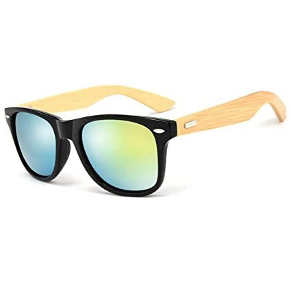 d19a8013d0 Pausseo Bamboo Frame Sunglasses Wooden Mens Womens Retro Vintage Eyewear  Running Cycling Fishing Driving Safety Softball