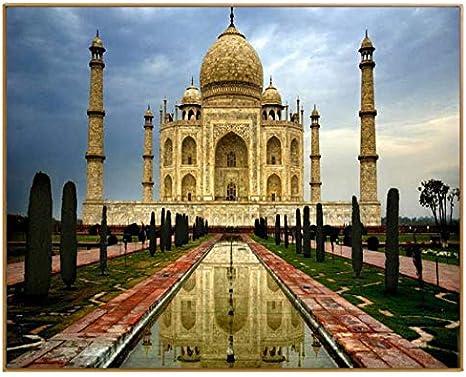 WACYDSD Paisaje Taj Mahal Fotos Pintura por Números DIY Pintura Al Óleo Digital sobre Lienzo Pintura Al Óleo por Números Dibujo Personalizado: Amazon.es: Juguetes y juegos