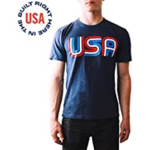 Epivive Made in the USA | Patriotic Retro Men & Women Athletic T Shirt