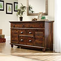 Sauder Harbor View 4 Drawer Dresser in Curado Cherry