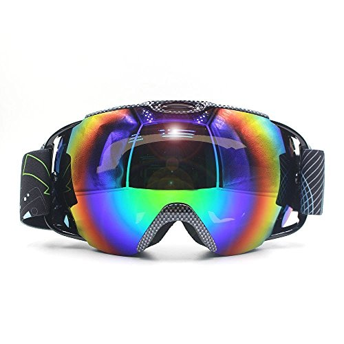 VILISUN Ski Goggles, Outdoor Snowboard Snowmobile Goggles for Men & Women, Anti-slip Adjustable Elastic Head Strap, Full REVO Coating, 100% UV400 Protection, Anti-fog Double Spherical - Polarized Goggles Ski Clearance