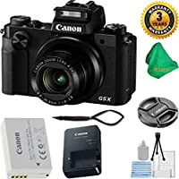 Canon PowerShot G5 X Camera with 4.2x Optical Zoom + 3 Year USA CPA Warranty + 5pc Starter Set + Microfiber Cloth - International Version