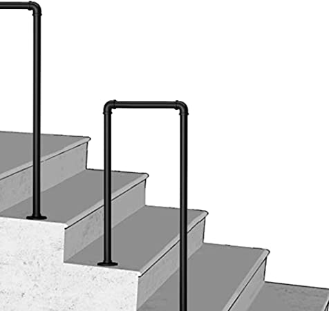 Pasamanos para escaleras Interiores Barandillas de Escalera Mate Negro Pasamanos Escalera Parapeto con Kit de instalación para al Aire Libre Balustrada Balcón Loft Ancianos: Amazon.es: Hogar