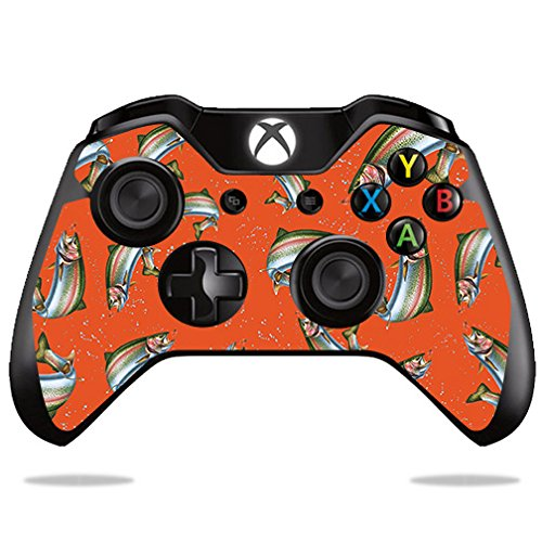 Price comparison product image Skin For Microsoft Xbox One/ One S Controller – Trout Collage | MightySkins Protective, Durable, and Unique Vinyl Decal wrap cover | Easy To Apply, Remove, and Change Styles | Made in the USA