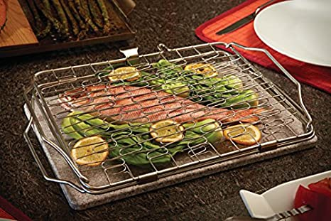 Grill Basket /& 2 Skewers 90003 Napoleon Healthy Choice Starter Kit With Topper