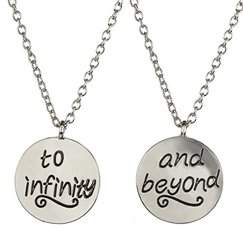 Lux Accessories Best Friends BFF Forever To Infinity & Beyond Necklaces (2 PC) -