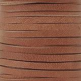 Leather-3mm Deerskin Lace-1/8 Inch-Saddle Tan-50 Foot Spool