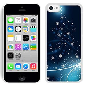 New Beautiful Custom Designed Cover Case For iPhone 5C With Snowflakes Dancing (2) Phone Case