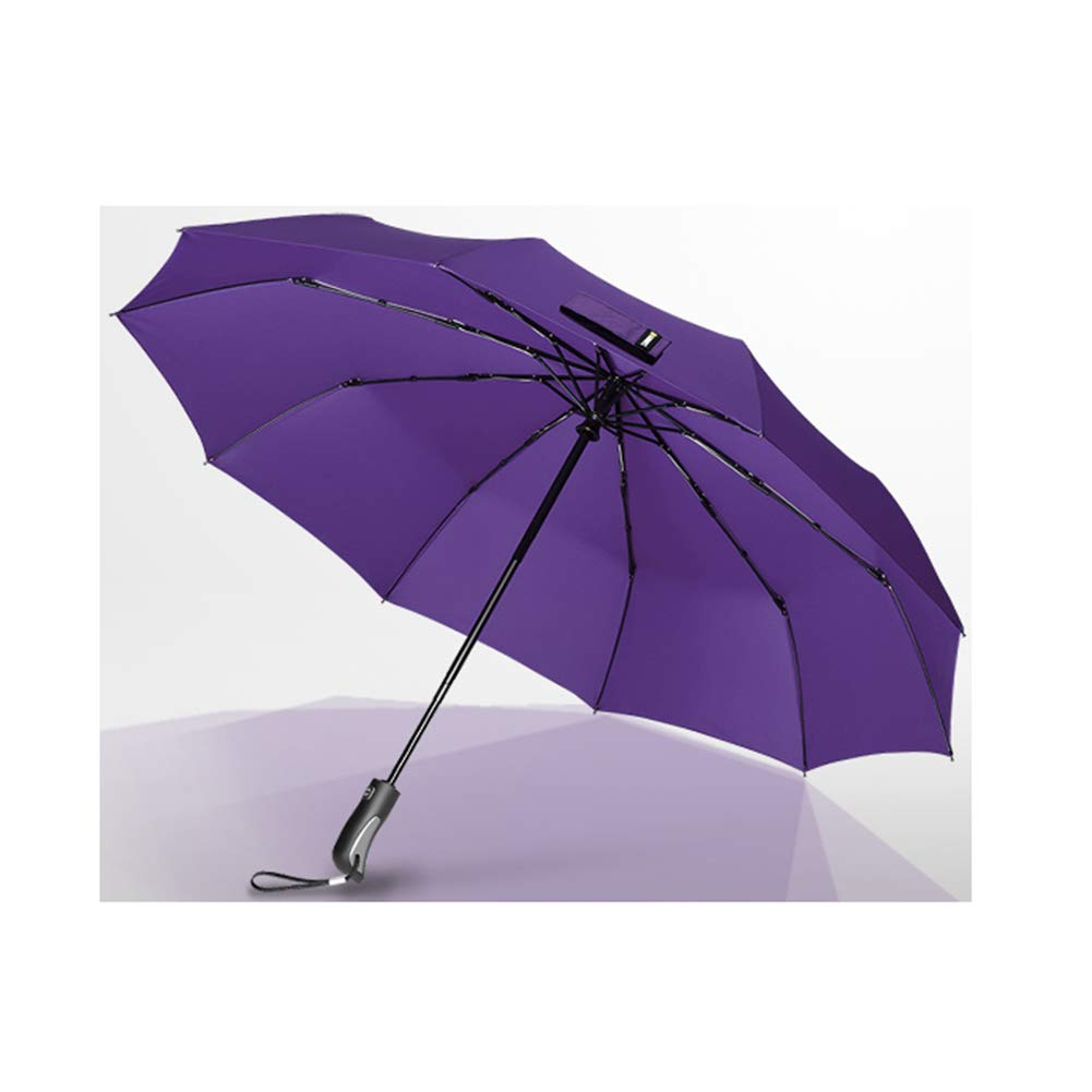 KEOA Windproof Travel Umbrella, Compact Folding Windproof Auto Open/Close Button,for Men Women and Kids(41Inch),Purple