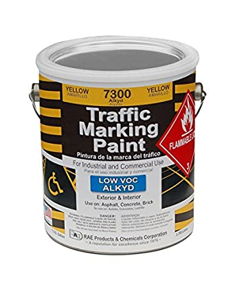 Yellow Traffic Paint, 1 Gallon, Low VOC Alkyd Paint: Amazon