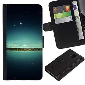 UNIQCASE - Samsung Galaxy S5 Mini, SM-G800, NOT S5 REGULAR! - Lake & Stars - Cuero PU Delgado caso cubierta Shell Armor Funda Case Cover