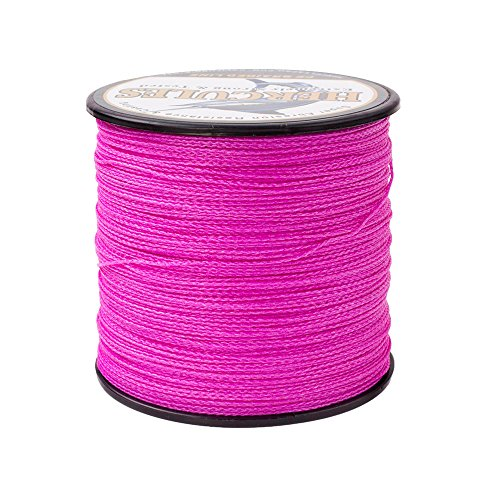 - HERCULES Super Strong 300M 328 Yards Braided Fishing Line 80 LB Test for Saltwater Freshwater PE Braid Fish Lines 4 Strands - Pink, 80LB (36.3KG), 0.48MM