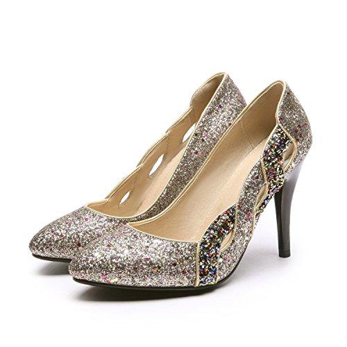 Stiletto Mujer con o 2018 Zapatos Oto Individuales de tac de Lentejuelas Sexy Zapatos Primavera zwRxqwHZ5