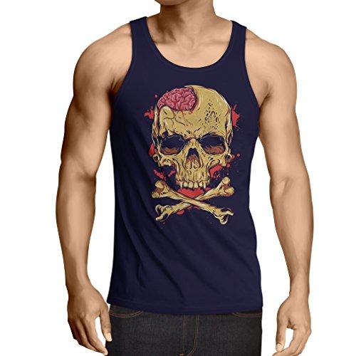 Vest Skull and Bones - Vintage, 80s, Rock and Roll Bands (Medium Blue Multi Color)]()