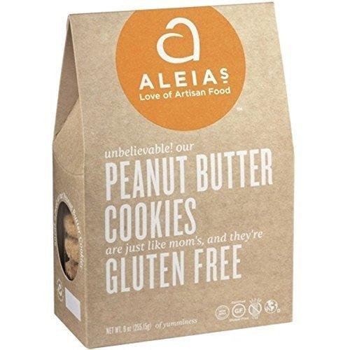 Aleias Gluten Free Peanut Butter Cookies, 9 Ounce - 6 per case.
