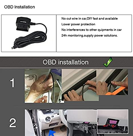 voyaelects OBD Power Kabel für Auto-Dash Cam, keine störeinflüssen ...