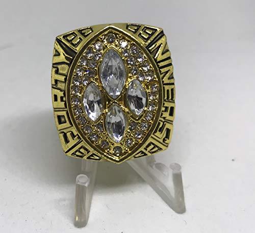 San 49ers Francisco Montana Ring (1988 1989 Joe Montana San Francisco 49ers High Quality Replica 1989 Super Bowl XXIV Ring Size 10.5-Gold US SHIPPING)