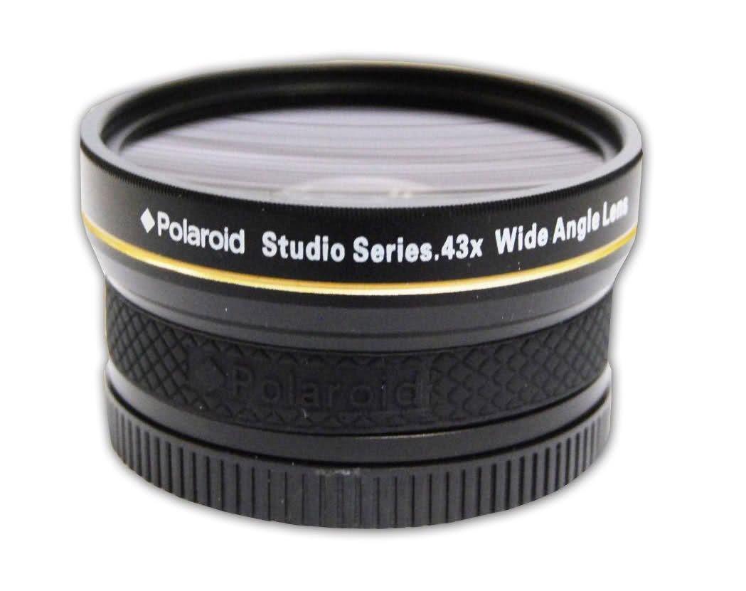 K-5 II K-30 K10D Objectif grand angle haute d/éfinition .43x de Polaroid Studio Series avec fixation macro inclut une housse dobjectif et les couvercles dobjectif pour lPentax X-5 K10 K-7 K20D K-R K-01 K2000 K200D K-5 K2000 K-X 645D