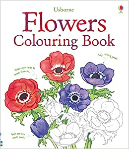 Flowers To Colour Usborne Colouring Books Nature Amazoncouk Sue Meredith 9781409523178