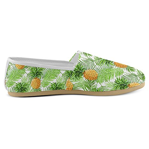 InterestPrint Womens Loafers Classic Casual Canvas Slip On Fashion Shoes Sneakers Flats Pineapple Fruit Multi 33 OcJHpklC