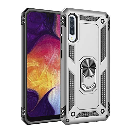 Hovisi Compatible with Samsung Galaxy A30/50/70 case Duty Protection Shockproof (A50, Silver) (Samsung Cf390 Series Curved 21-5 Inch Fhd Monitor)