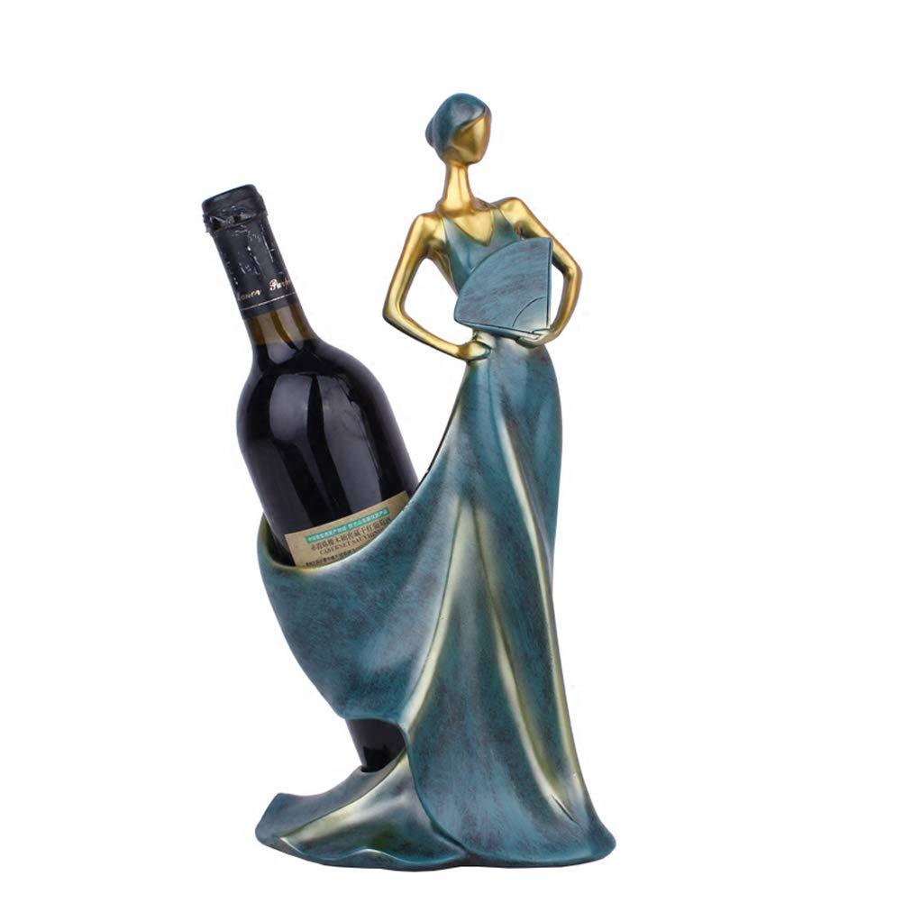 X-JIU Tisch-Weinregal, freistehende Weinflaschenhalter Neuheit dekorative, Innendekoration, Desktop Ornament, kompakte Größe