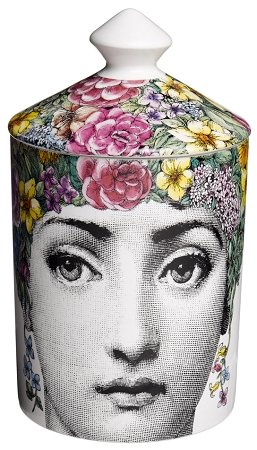 Fornasetti - Scented Candle with Lid - Flora - 300g - White Ivy Glass