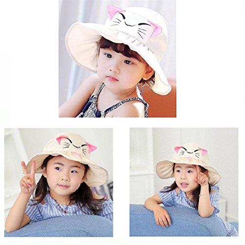 56e7f7a92a7 GoodPlay Cute Cat Dog Kids Anti-UV Sun Hat Foldable Visor Hat Children  Bucket