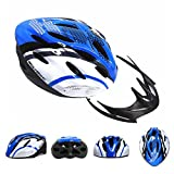 Chariot Trading - WOLFBIKE Bicycle Bike Cycling Adult Men Women Carbon Helmet BMX MTB Road Hero Helmet 19 Holes Visor Size 54-64cm Yellow Blue Red - CJ-BG-SPT-000317