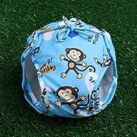 WeiweiSmile AquaNappy - Pañal de baño blue monkey Talla:0-1years