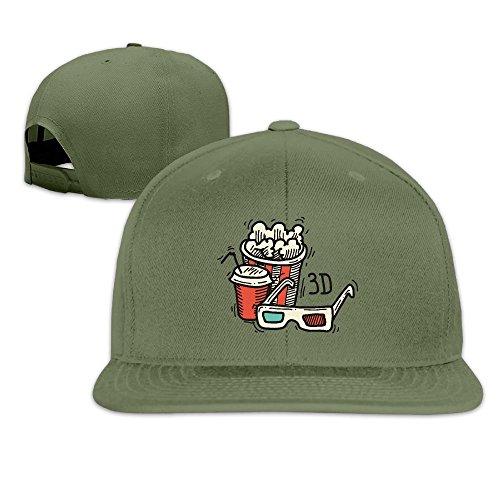 Price comparison product image Baseball Cap Popcorn Hip-hop Flat Edge Cap Sunhat Fashion Leisure Hat with Adjustment Buckle for Men