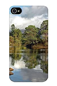 For Case Samsung Galaxy S4 I9500 Cover Defender(river Trees Mountains Rocks House Landscape ) Gift For Christmas